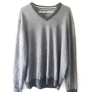 CLUB ROOM merino wool blend striped sweater XL